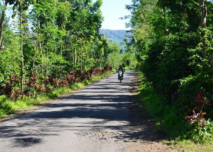 bike on road