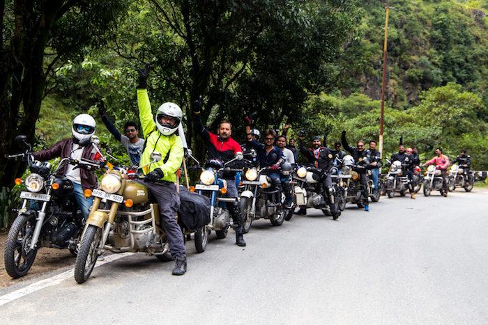 bikers group on trip