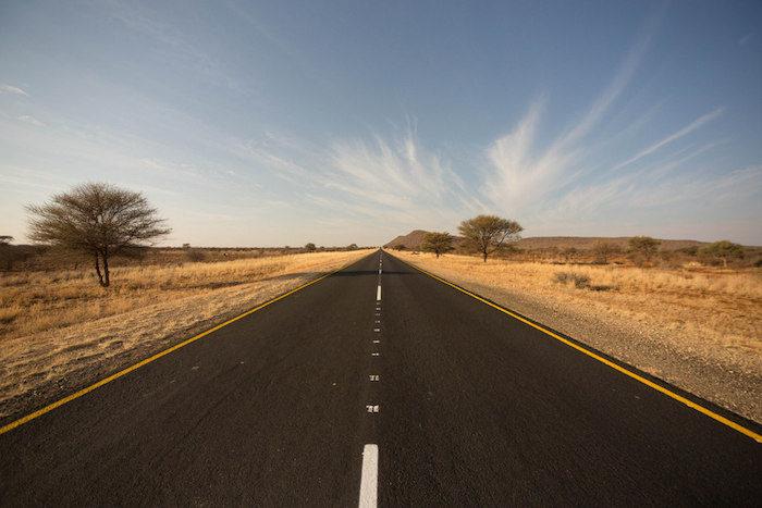 open desertic roads