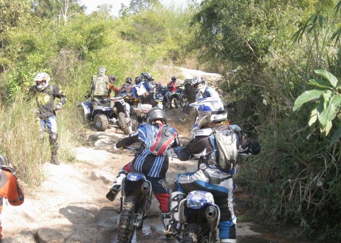 Off roading around Phu Rua Thailand