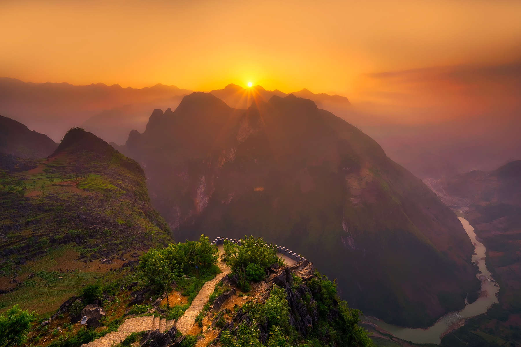 sunset in vietnam