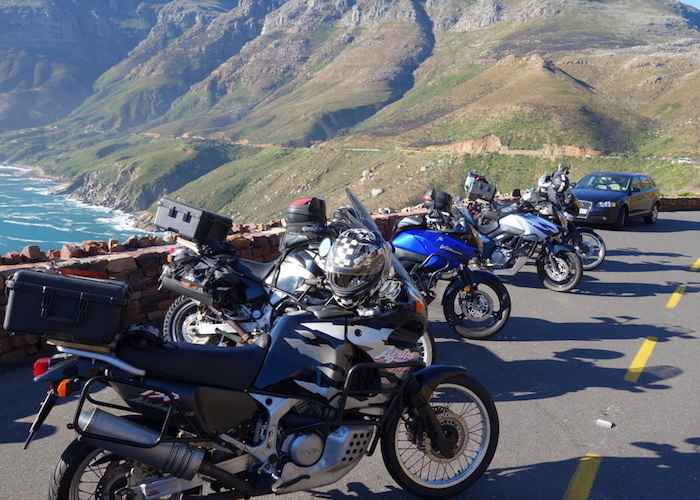 Group of motorcycle in Cape Town