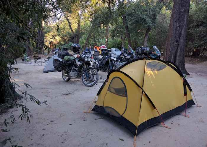 camping in african forest