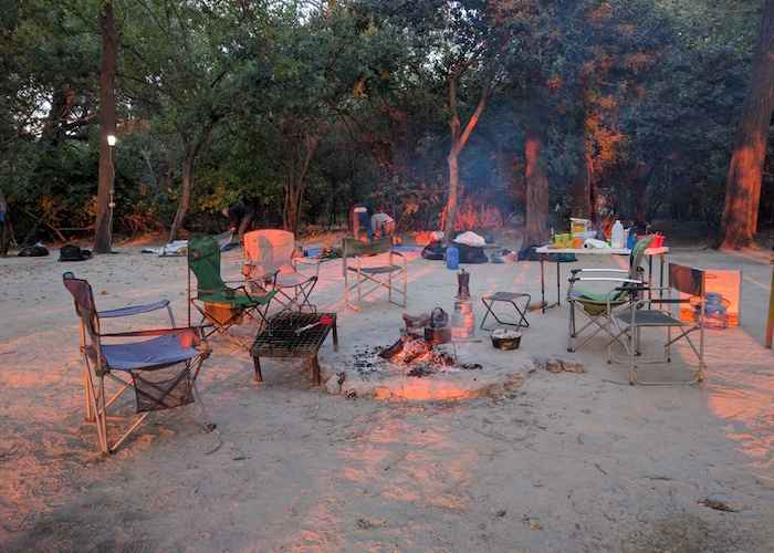 bonfire in african forest