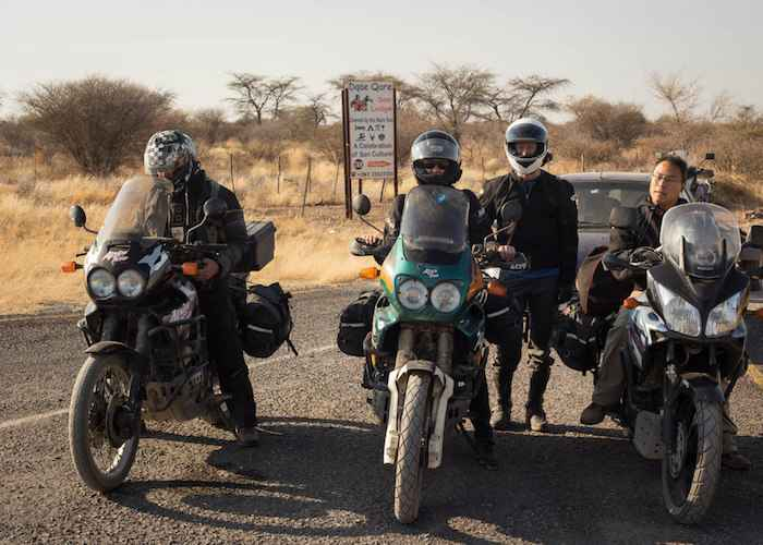 motorbikers trip to Africa's Great Rift Valley