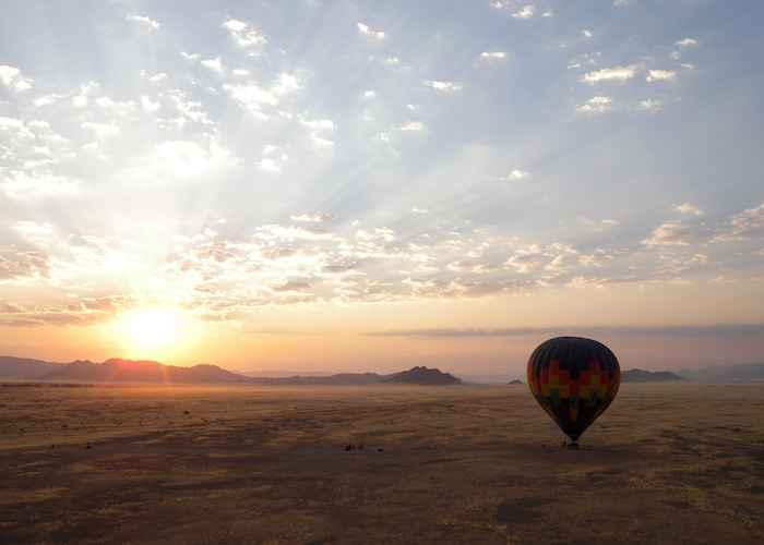 Sunset in South Africa desert
