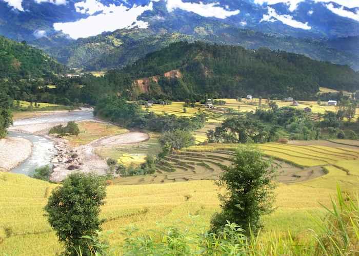 A Village of Nuwakot Tibet