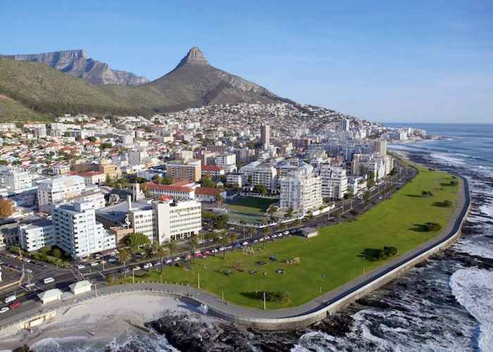 Aerial View of Sea Point Cape Town South Africa