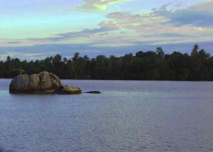Bentota River in Dharga Sri Lanka