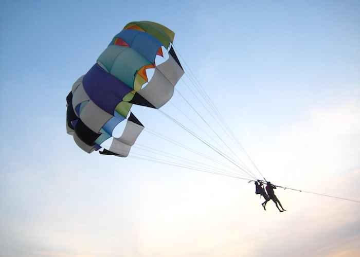 Parasailing on the Calangute beach Goa