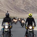 group of motorbikers