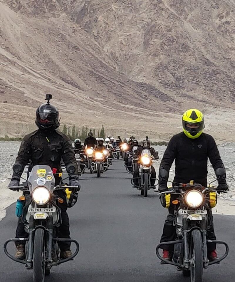 group of motorbikers
